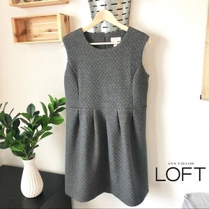 LOFT Quilted Gray Dress
